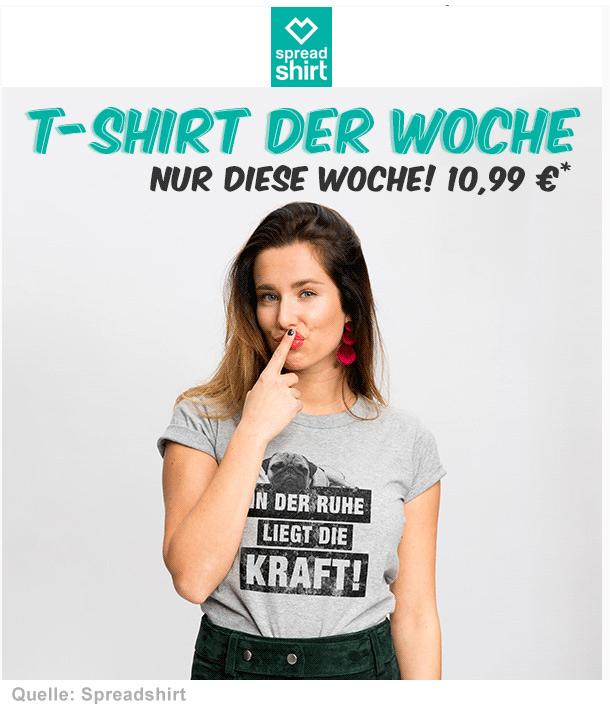 T-Shirt der Woche bei Spreadshirt